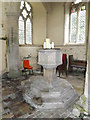 TM0666 : Font of St. Andrew's Church by Adrian Cable