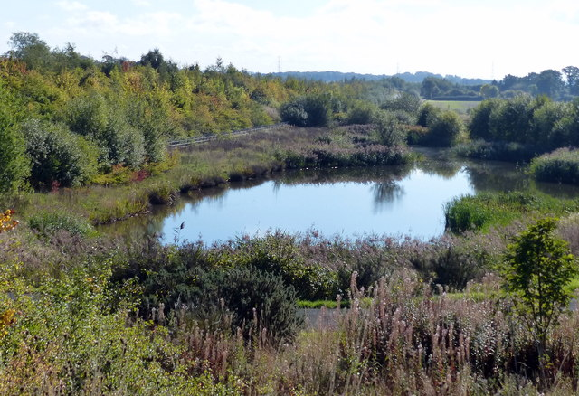 Small lake next to the M6 Toll Motorway