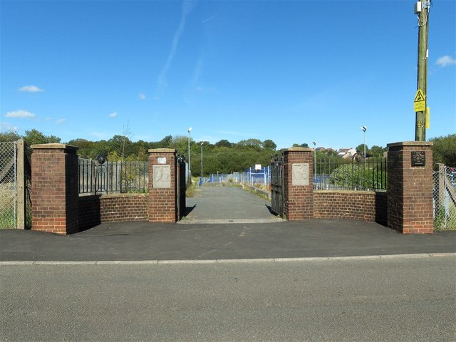 Gate to King George V Field at Capel Hendre