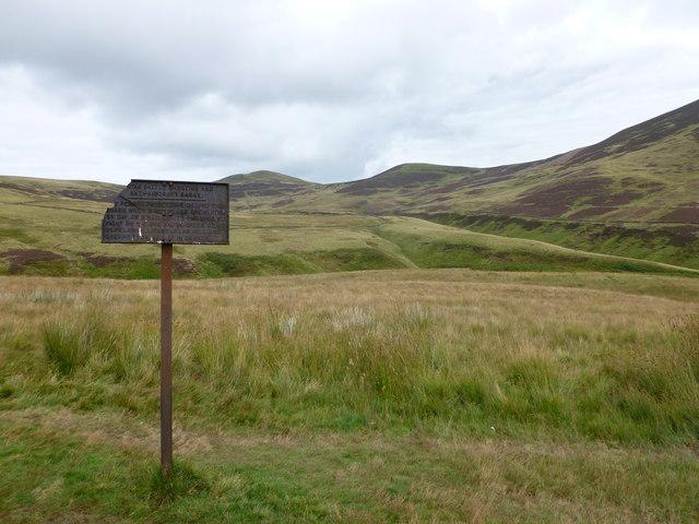 Old warning sign, Pentland Hills