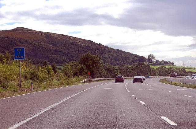 M5 southbound near Christon