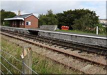 SO2508 : Quarter mile post on Blaenavon (High Level) railway station  platform by Jaggery