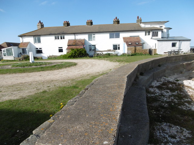 The former coastguard cottages at Shellness