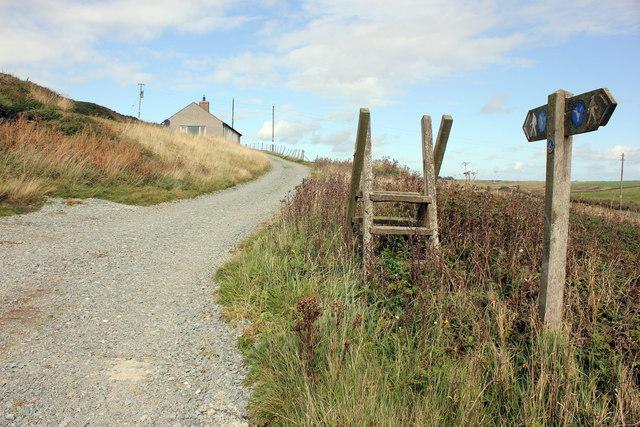 Redundant stile on the Anglesey Coastal Path