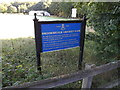 TQ5794 : Brook Weald Cricket Club sign by Adrian Cable
