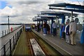TQ8883 : Southend Pier train station by Oliver Mills