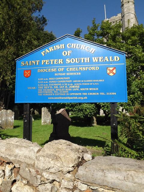 St. Peter's Church sign