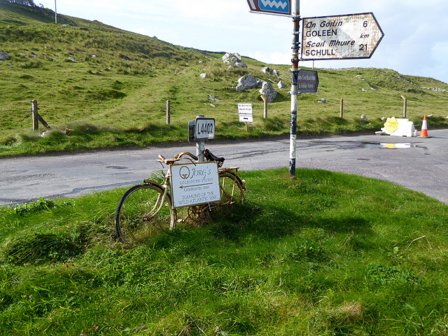 Road junction at the head of Crook Haven