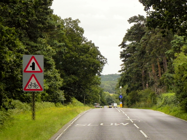 Southbound A149 near Babingley