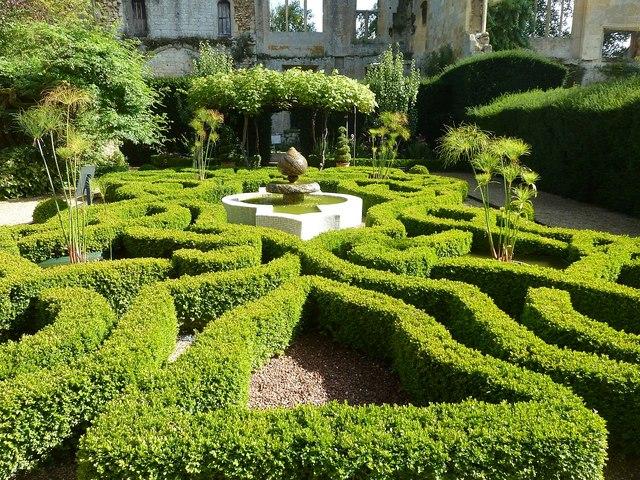 Sudeley Castle - Knot Garden - looking east