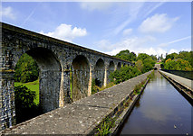 SJ2837 : Chirk aqueduct and viaduct, Shropshire by Roger  Kidd