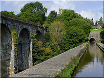 SJ2837 : Chirk aqueduct, viaduct and tunnel in Shropshire by Roger  Kidd