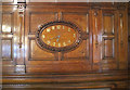 TQ3180 : Clock in wooden panelling, Two Temple Place by David Hawgood