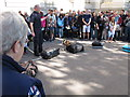 TQ3380 : Sniffer dog demonstration, Custom House by David Hawgood