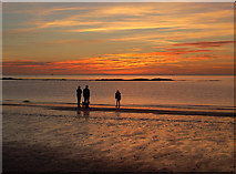 NS2109 : Enjoying the Sunset at Maidens by Mary and Angus Hogg