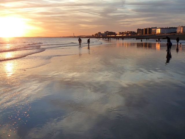 Low tide at sunset, Hove
