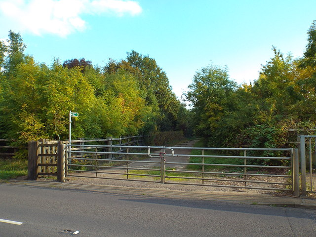 Gate and footpath at Kings Langley