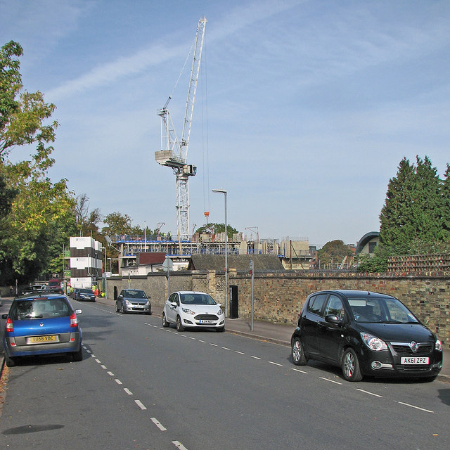 Gresham Road: Hughes Hall building site