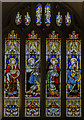 ST7564 : Stained glass window, Bath Abbey by Julian P Guffogg