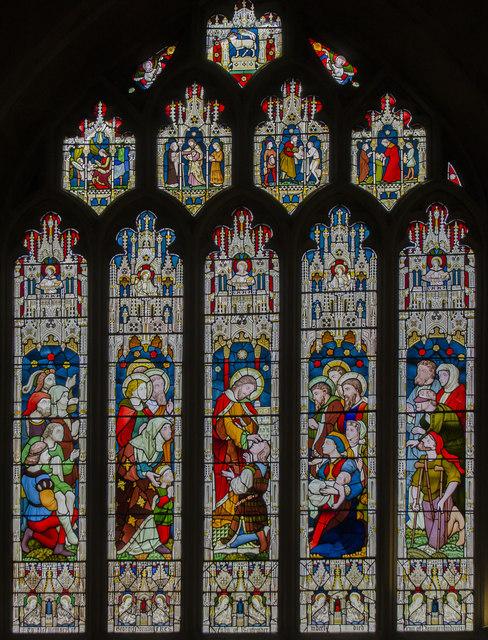 Stained glass window, Bath Abbey