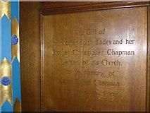 SD8789 : St Margaret, Hawes: panel memorial (9) by Basher Eyre