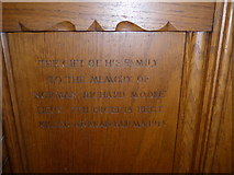 SD8789 : St Margaret, Hawes: panel memorial (11) by Basher Eyre