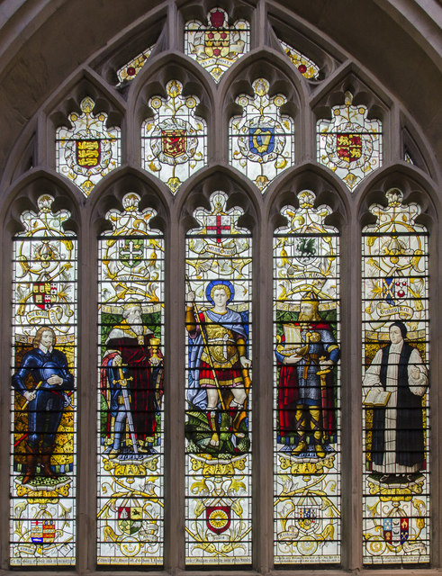 Heroes of the West Country window, Bath Abbey