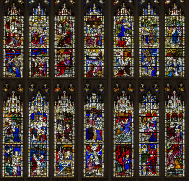 Detail of East Window, Bath Abbey
