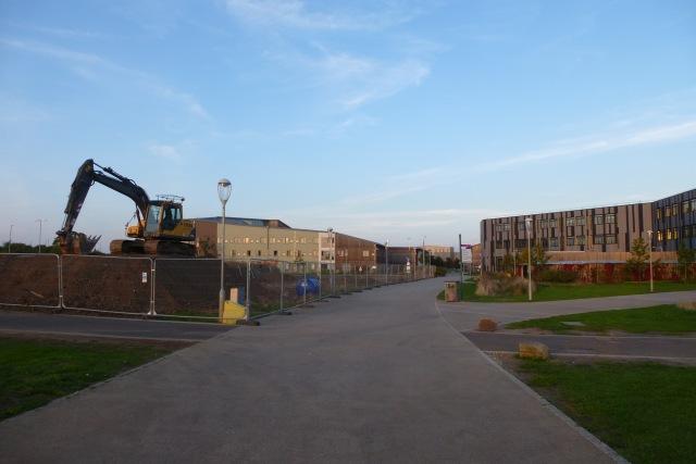 Construction on Heslington East