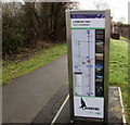 ST2895 : Community Links Information Board 3C, Cwmbran Town by Jaggery