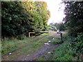 SO2603 : Metal barrier across a sports field entrance, Abersychan by Jaggery