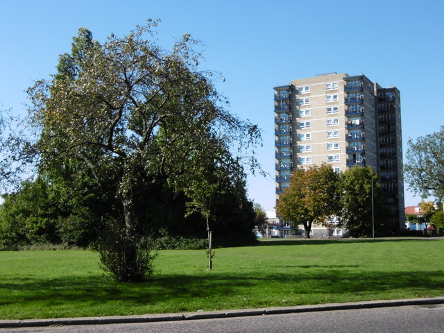 Block of flats at Whipps Cross Roundabout