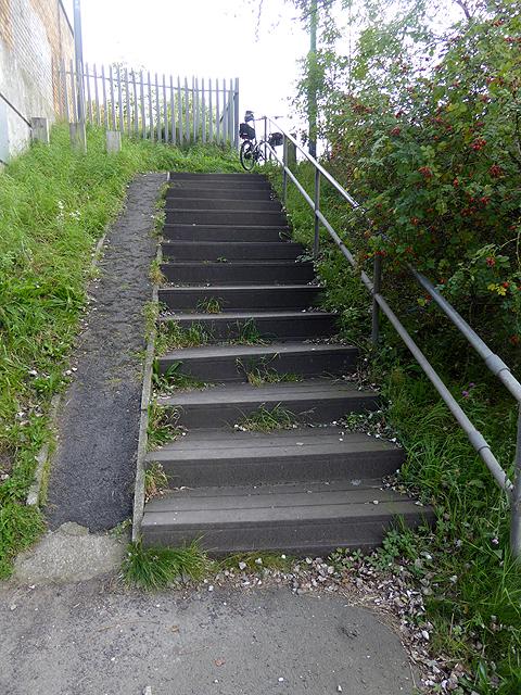 Wheeling ramp near Fellgate Metro Station