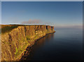 NG5065 : Coastal cliffs north of Mealt Waterfall by John Allan