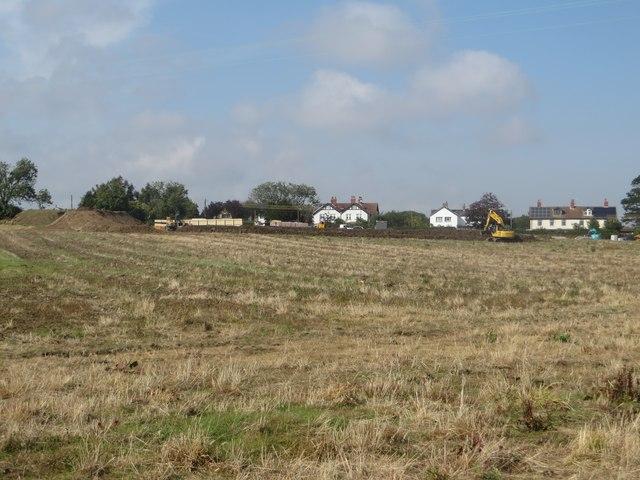 Arable field on the edge of Warkworth