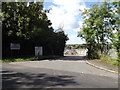 TQ5691 : Sewage Works entrance by Geographer