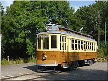 SK3455 : Crich Tramway Village - Oporto tram at the terminus by Chris Allen