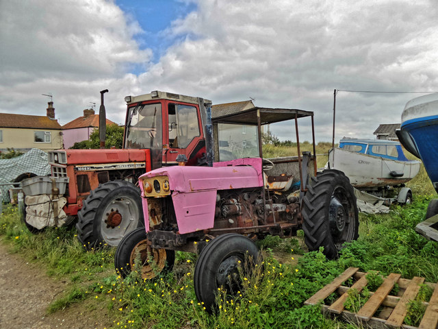 Tractors near lifeboat station