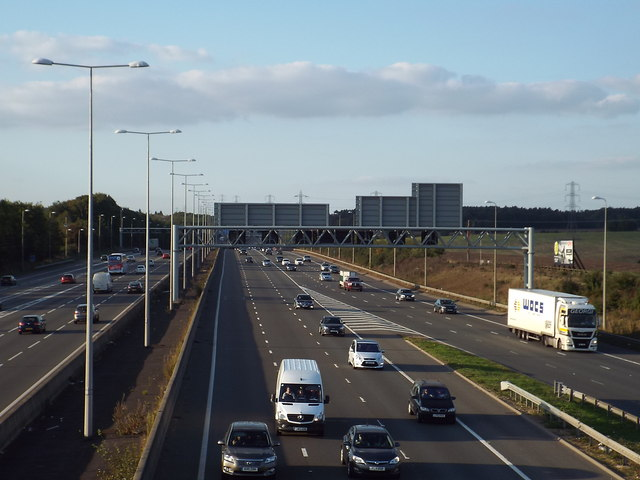 Traffic on the M1 near St Albans