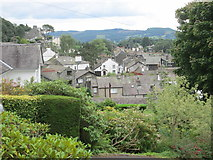 NY3704 : Ambleside – Latterbarrow beyond Ambleside's roof tops by Peter S