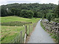 NY3603 : Brathay and Skelwith – new path and Brathay Church by Peter S