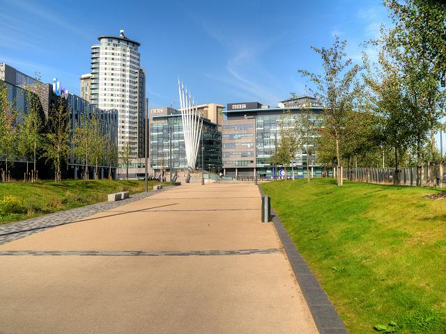 Path to Trafford Wharf and MediaCityUK