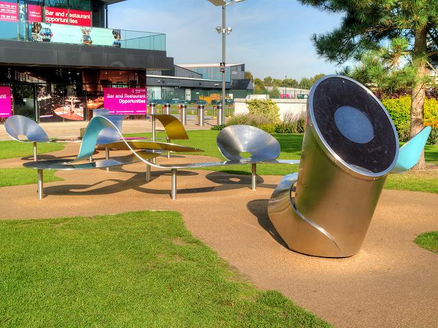 "ITV ""Ribbon"" Seating Installation and Interactive Control Point, MediaCityUK"