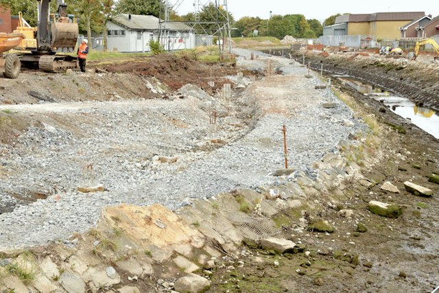 Connswater path works, Belfast - October 2015(2)