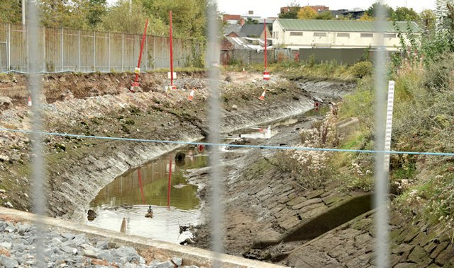 Connswater path works, Belfast - October 2015(4)