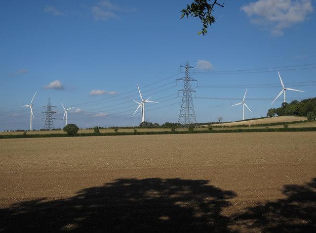 Wadlow Wind Farm from Fleam Dyke