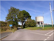SX5548 : The water tower at Butts Park, Newton Ferrers by David Smith