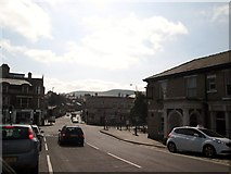 SK0394 : Glossop  one  B  road  meets  two  A  roads by Martin Dawes