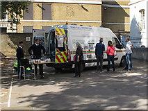 TQ3380 : Road Fuel Testing Unit, Custom House London by David Hawgood
