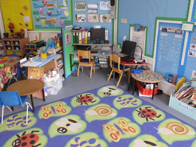 1st year classroom, Hallfield Primary School